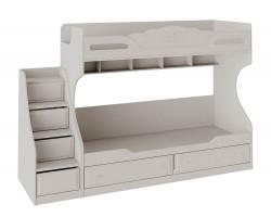 Кровать 2-х ярусная с приставной лестницей Сабрина (80x200)